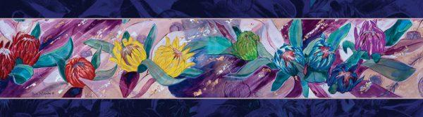 Rainbow protea themed scarf