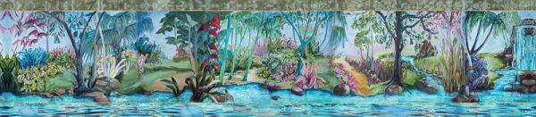 River?Garden themed scarf